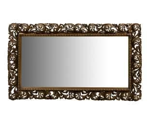 Italian Style Gilt Plaster Mirror
