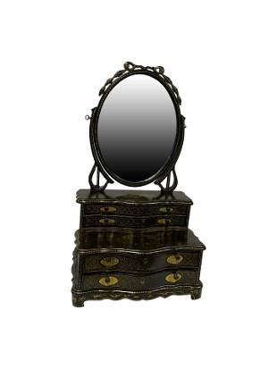 English Lacquer Jewelry Box