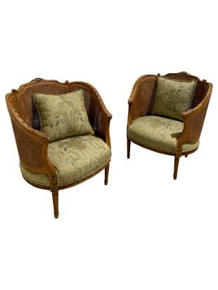 Century Hickory Double Cane Parlor Chairs