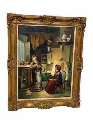 Adamos - Large Oil on Canvas