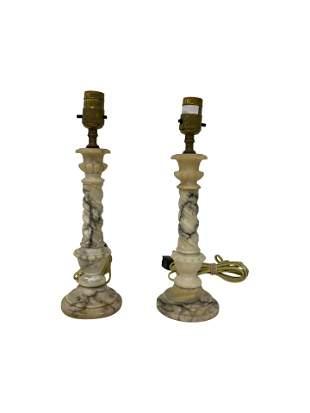 Alabaster Lamps - Pair