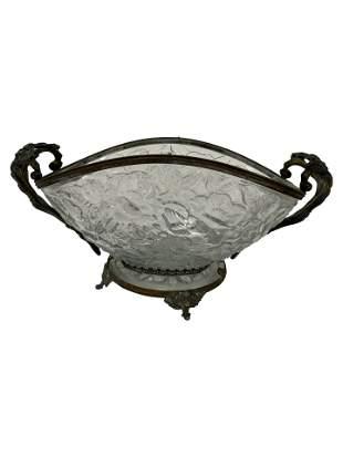 French Metal Mounted Bowl