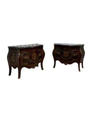French Style Bombay Commodes - Pair