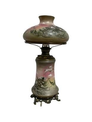 Victorian Electrified Kerosene Lamp