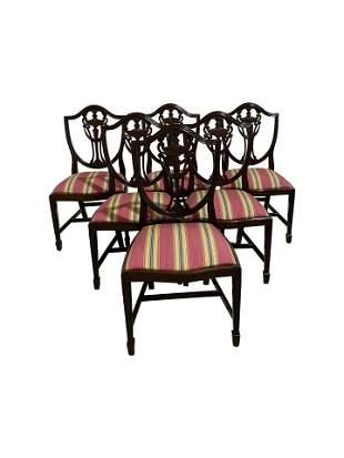 Adams Style Mahogany Dining Chairs - 6