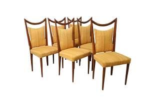 Gio Ponti Style - Italian Walnut Dining Chairs - 6