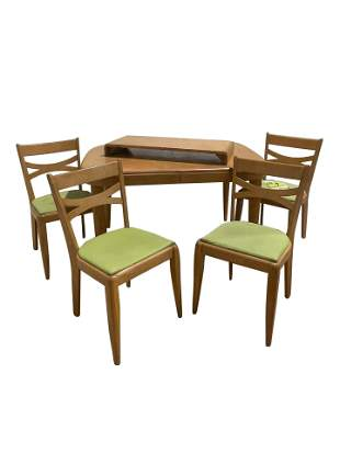 Heywood Wakefield - Dining Table and 4 Chairs