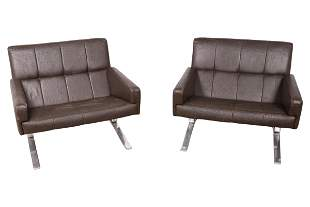 John Behringer - Chrome and Leather Chairs