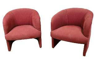 Mid Century Style Barrel Chairs - Pair