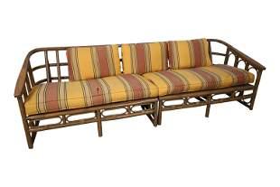 Sculpted Bamboo Sofa
