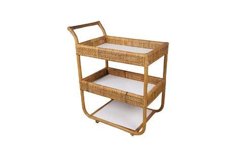 Bielecky Bros Style - Rattan Tea Cart