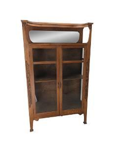 Arts & Crafts Oak China Cabinet