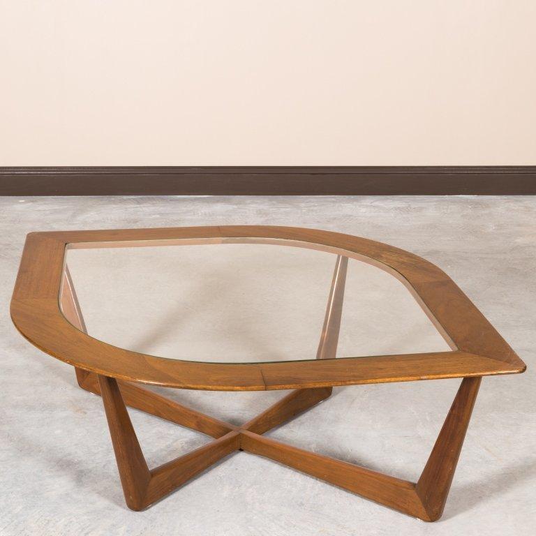 "Mid Century Walnut ""Eye"" Coffee Table"