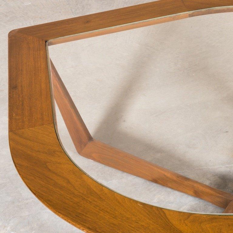 "Mid Century Walnut ""Eye"" Coffee Table - 2"