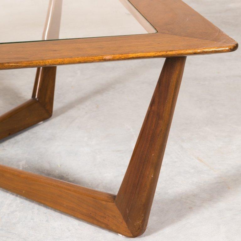 "Mid Century Walnut ""Eye"" Coffee Table - 3"