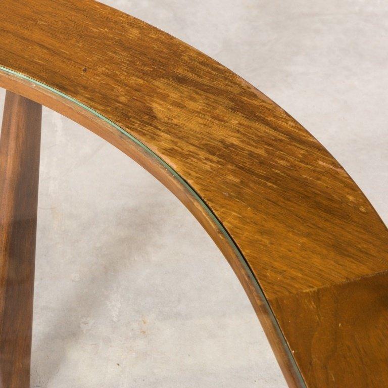 "Mid Century Walnut ""Eye"" Coffee Table - 4"