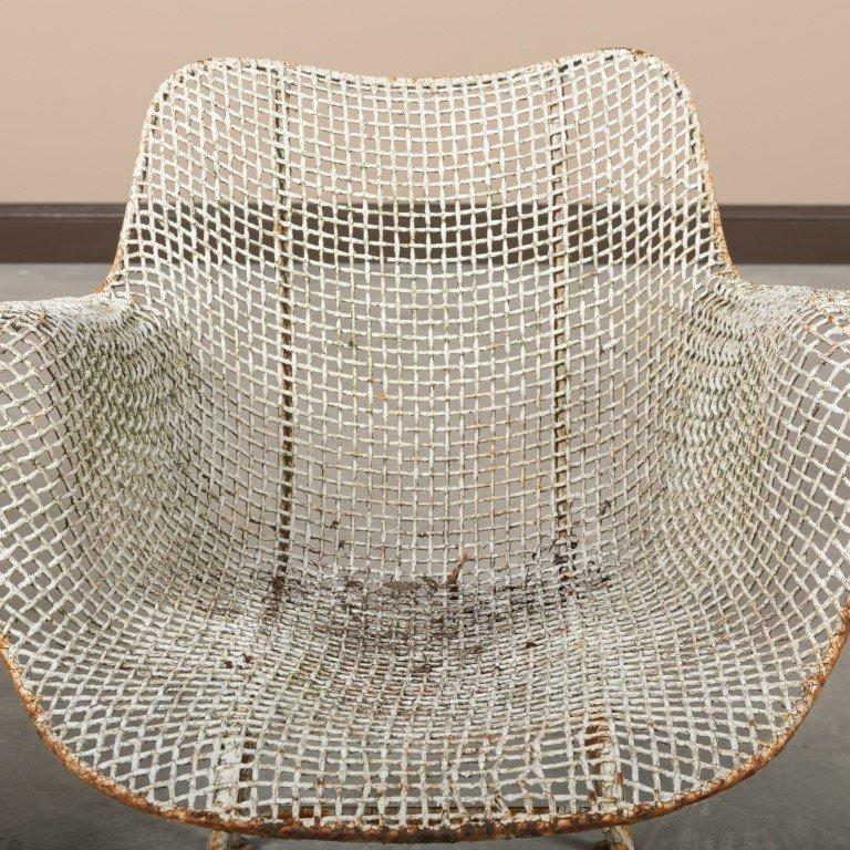 Pair Russel Woodard Sculptura Mesh Chairs - 2