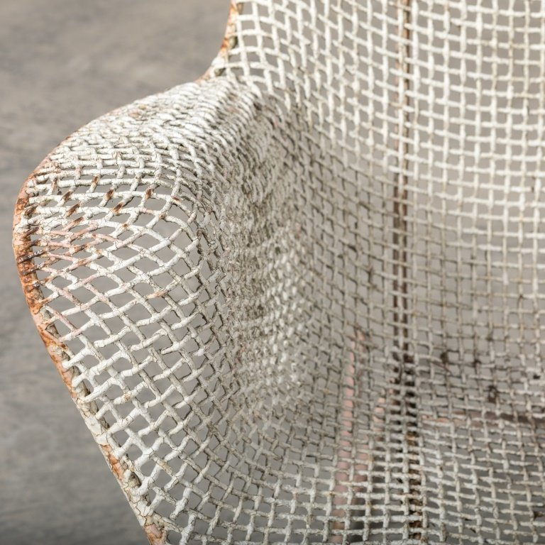 Pair Russel Woodard Sculptura Mesh Chairs - 3