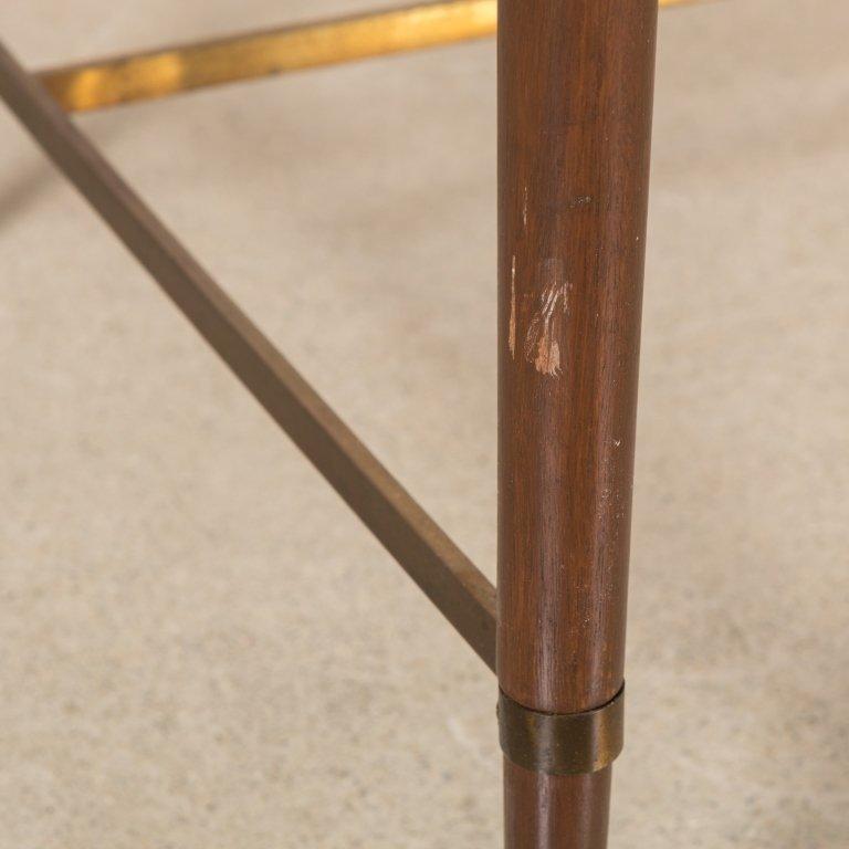 Walnut Desk with Brass Stretcher - After Calvin - 3