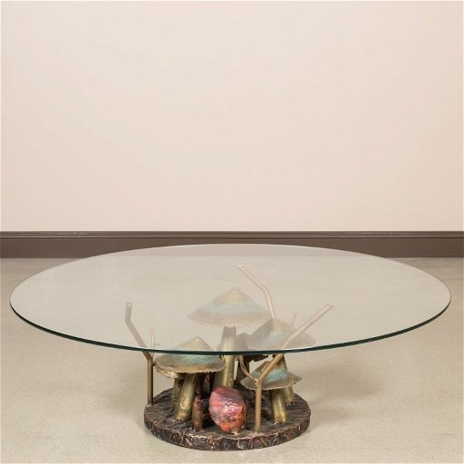 Strange Silas Seandel Style Metal Mushroom Coffee Table Download Free Architecture Designs Crovemadebymaigaardcom