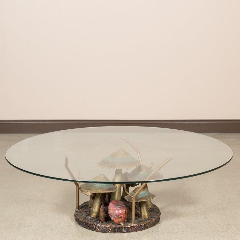 Silas Seandel Style Metal Mushroom Coffee Table