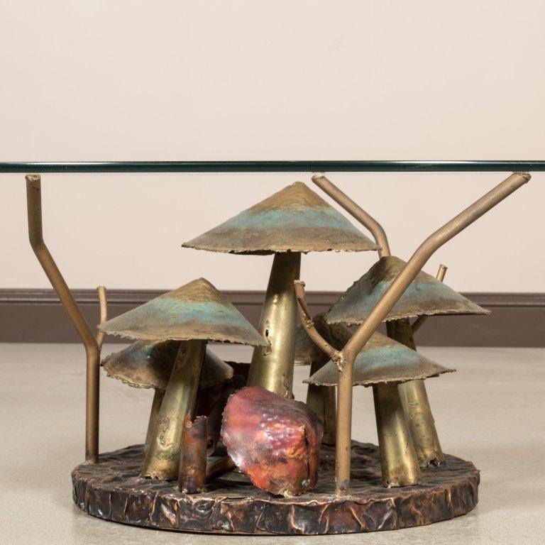 Silas Seandel Style Metal Mushroom Coffee Table - 2