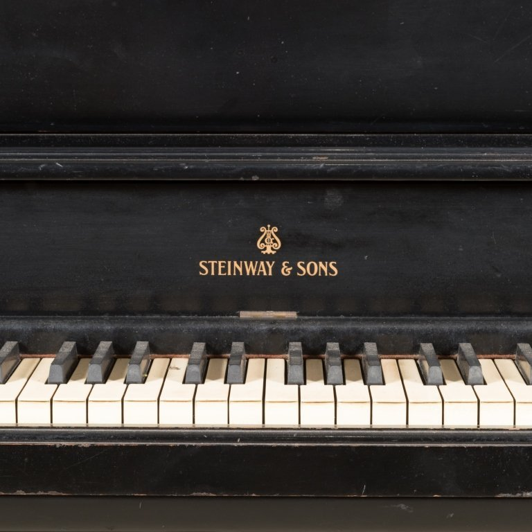 Steinway and Sons Black Lacquer Upright Piano - 2