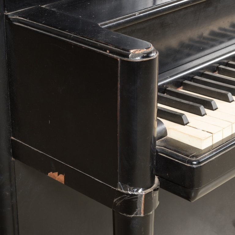 Steinway and Sons Black Lacquer Upright Piano - 3
