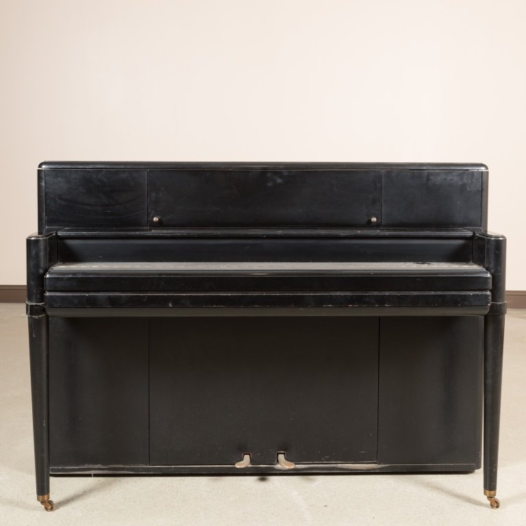 Steinway and Sons Black Lacquer Upright Piano - 4