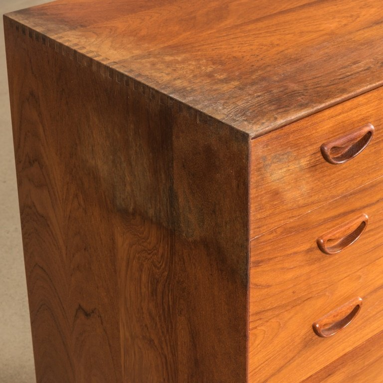 Danish Teak Five Drawer Chest - 2