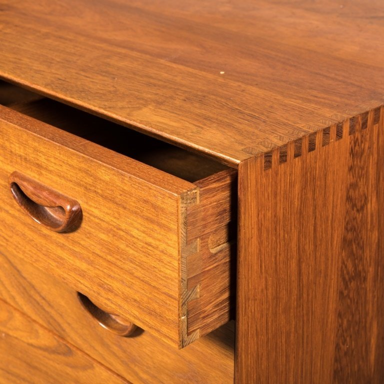 Danish Teak Five Drawer Chest - 3