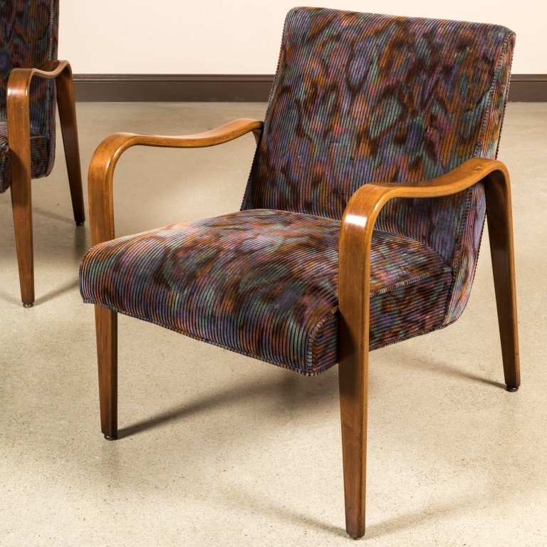Pair Thonet-Style Bentwood Arm Chairs - 2