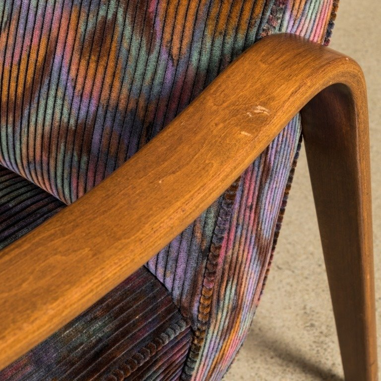 Pair Thonet-Style Bentwood Arm Chairs - 3