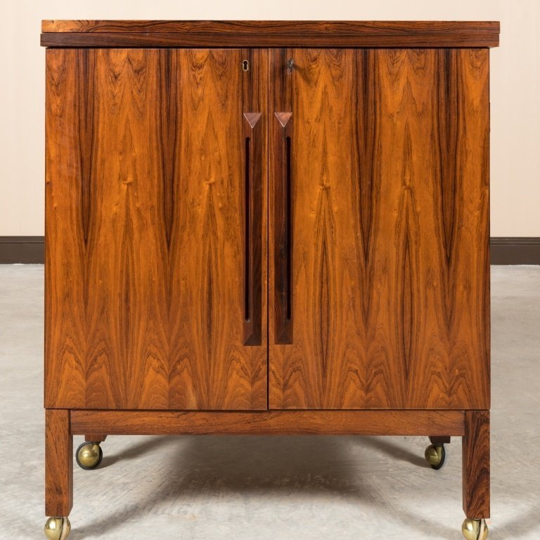 Torbjorn Afdal For Bruksbo Rosewood Bar Cabinet - 4