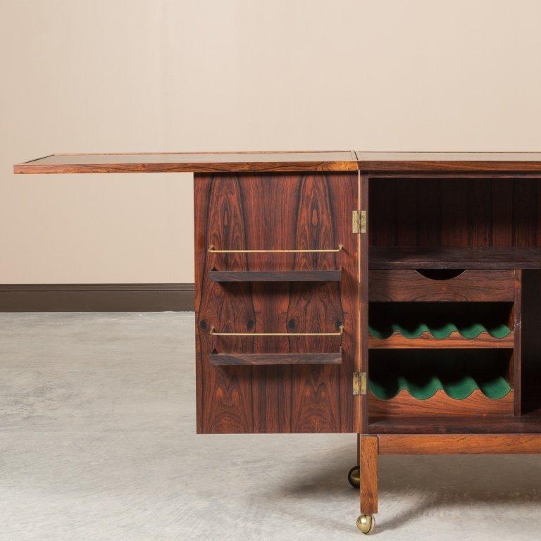 Torbjorn Afdal For Bruksbo Rosewood Bar Cabinet - 5