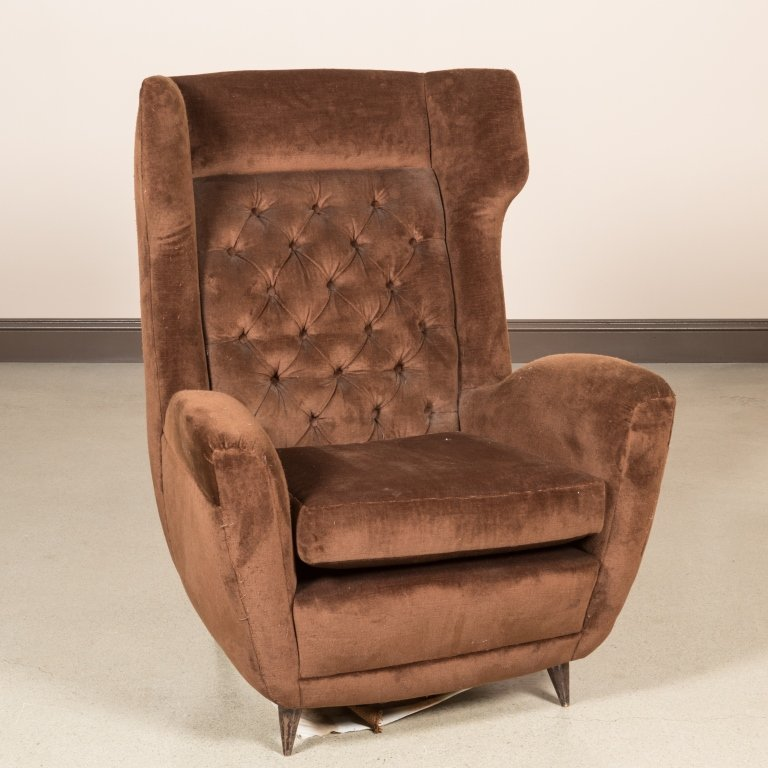 Paola Buffa Style Italian Wing Chair