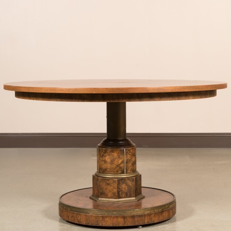 Burled Walnut Adjustable Center Table - 2