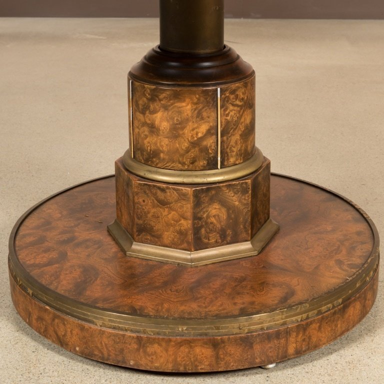 Burled Walnut Adjustable Center Table - 3