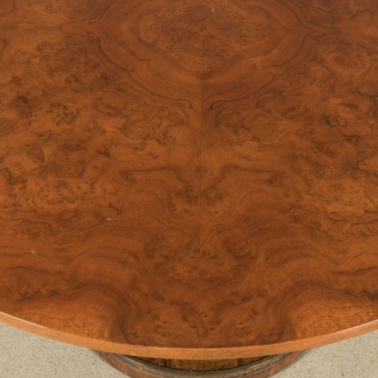 Burled Walnut Adjustable Center Table - 4