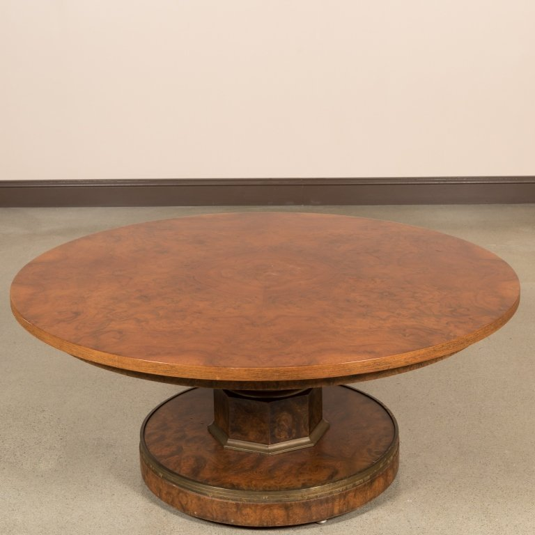 Burled Walnut Adjustable Center Table - 5