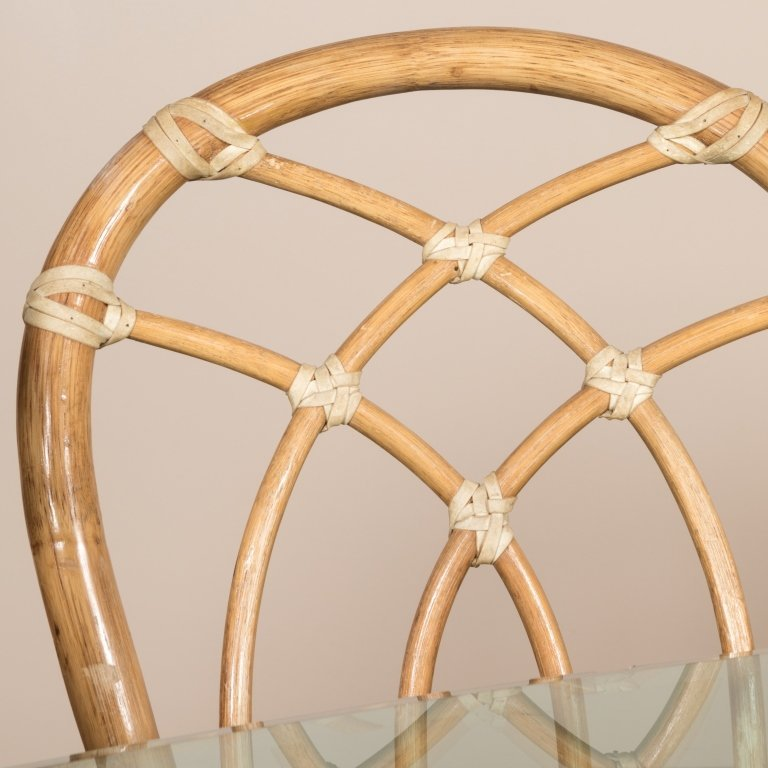 Mcguire Rattan and Glass Table and Chairs - 2