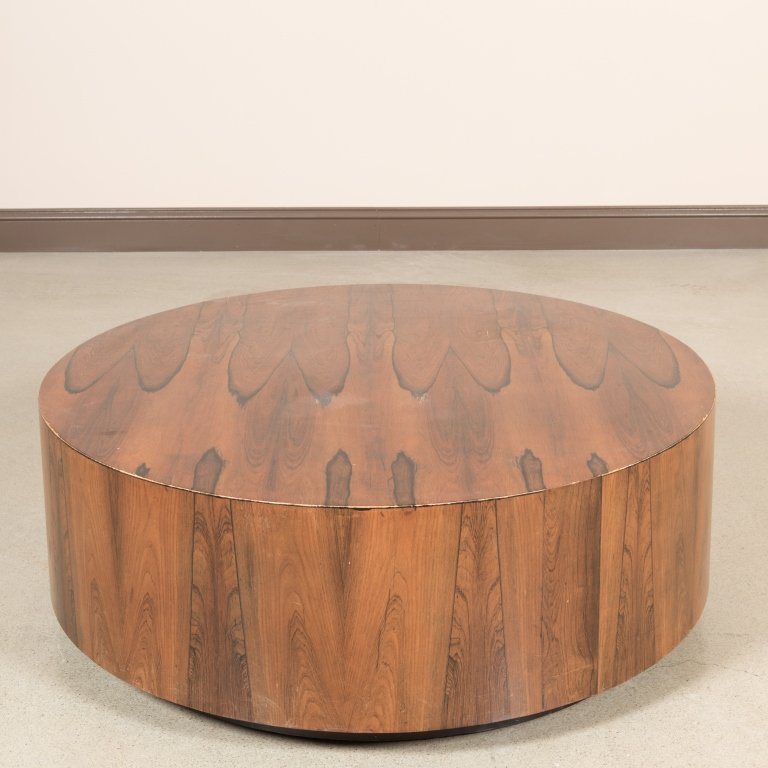 Harvey Probber Rosewood Drum Table