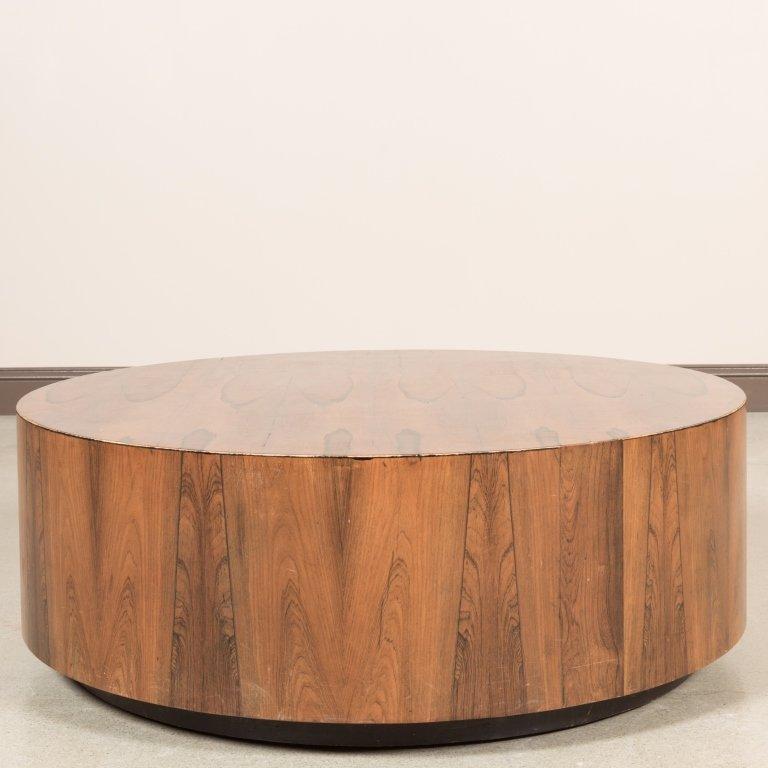 Harvey Probber Rosewood Drum Table - 2
