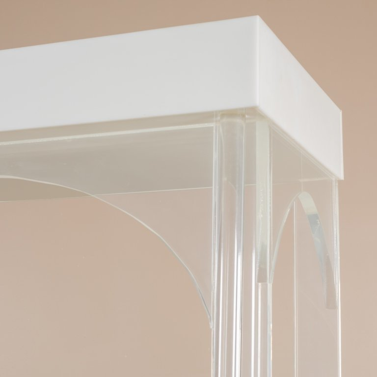 Lucite Lighted Glass Shelf Etagere - 3