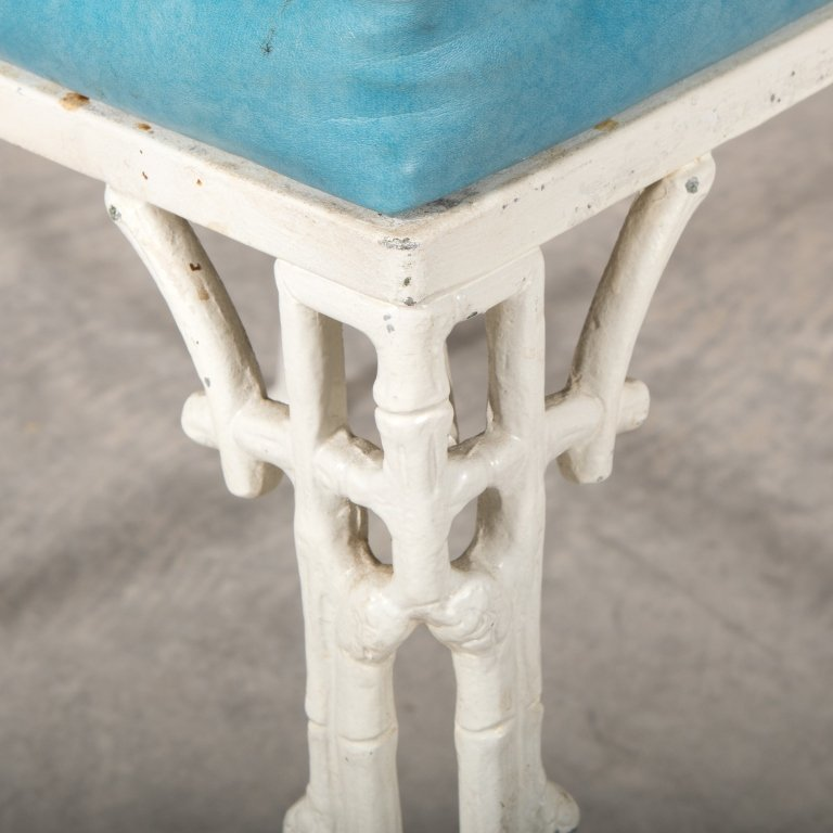Set of Four Faux Bamboo Metal Dining Chairs - 3