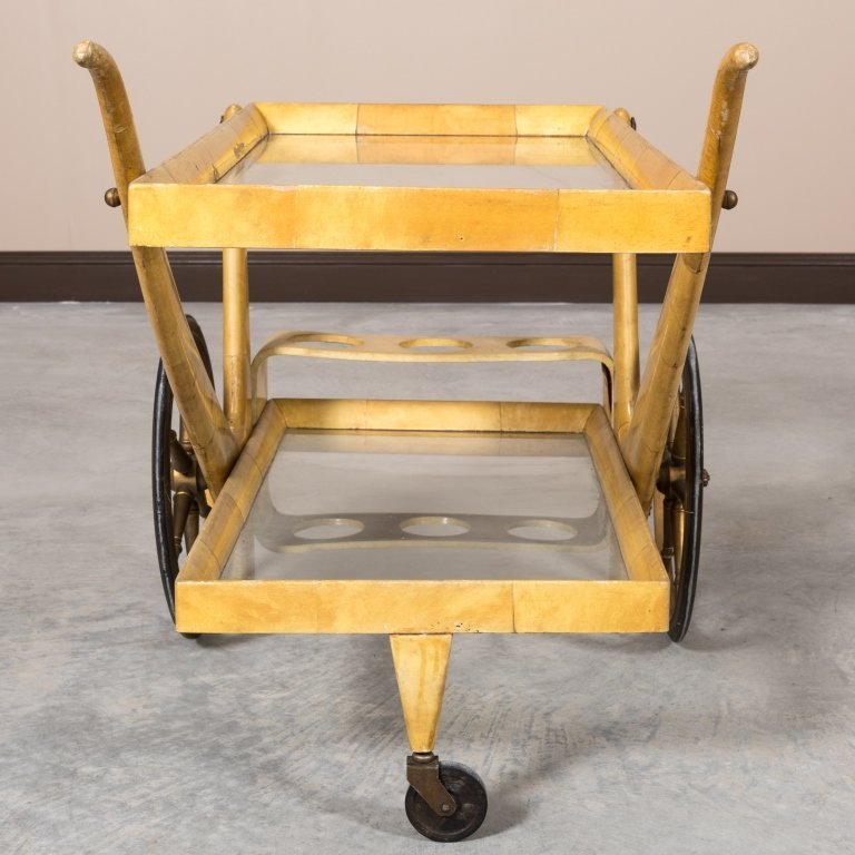 Aldo Tura Goatskin Serving Cart - 6