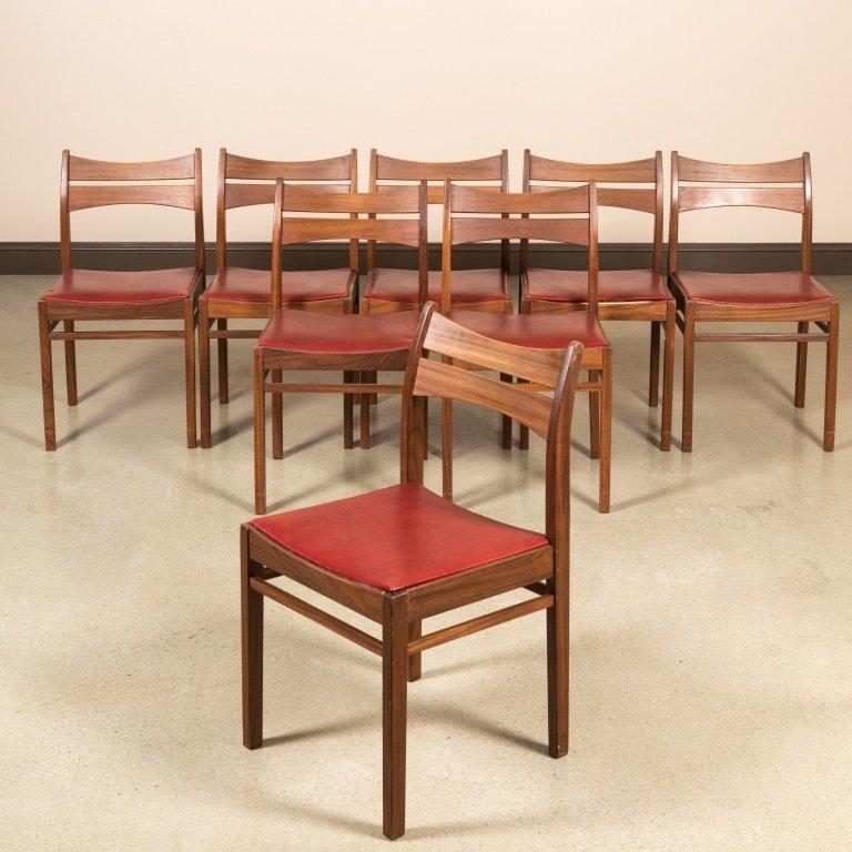 Set of Eight Danish Teak Dining Chairs