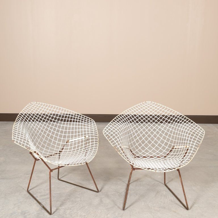 Pair Knoll Mid Century Handkerchief Chairs