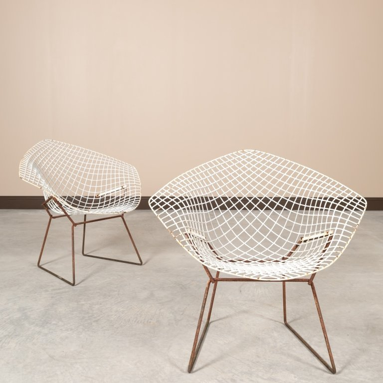 Pair Knoll Mid Century Handkerchief Chairs - 2
