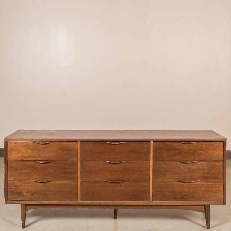 Danish Triple Dresser with Laminate Top